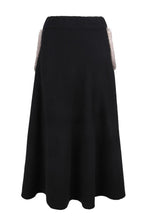 Load image into Gallery viewer, Black Mink Pocket Midi Skirt