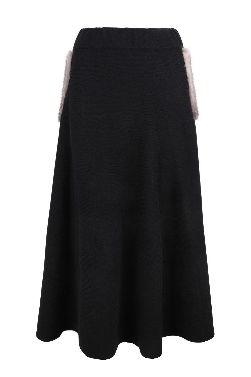 Black Mink Pocket Midi Skirt