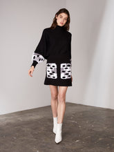 Load image into Gallery viewer, Black Dotted Fur Cuff Sweater