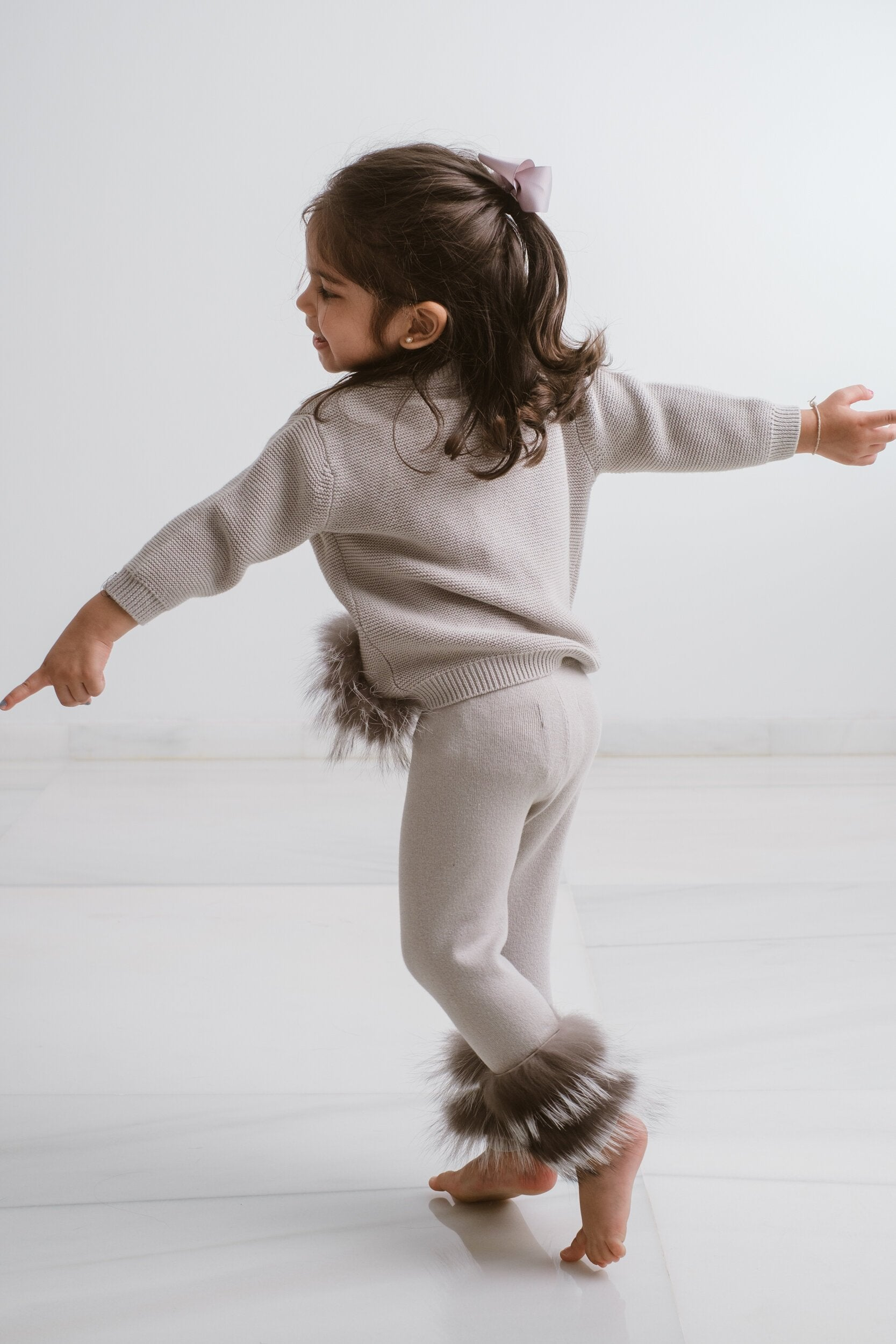 Little IA: Grey Trim Pants