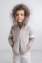 Load image into Gallery viewer, Little IA: Grey Fur Hoodie