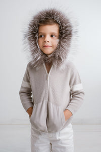 Little IA: Grey Fur Hoodie