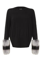 Load image into Gallery viewer, Black Chinchilla Cuff Sweater