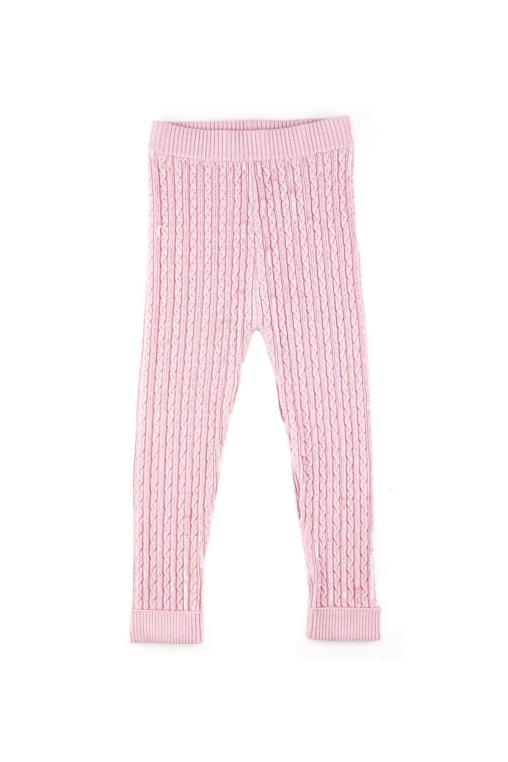 Little IA: Pink Sequin Embellished Leggings