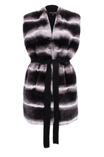 Load image into Gallery viewer, Black Belted Gilet