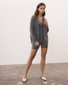 IA Essentials: Charcoal Grey Biker Shorts Set