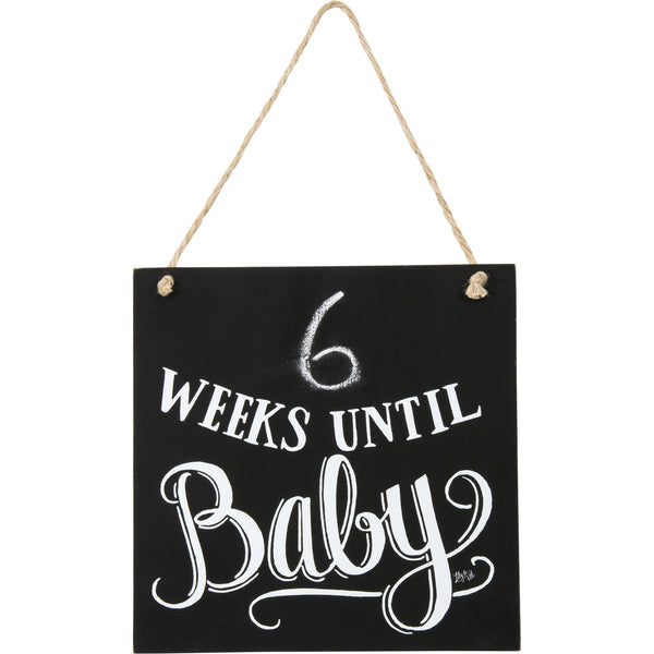 Chalk Sign - Weeks Until Baby