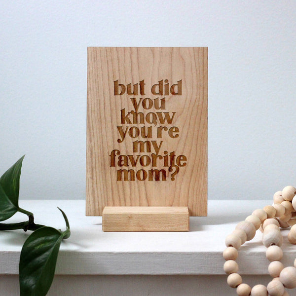 "Wooden ""You Are Doing A Truly Amazing Job"" Card"