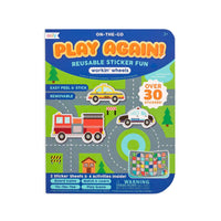 Play Again! Working Wheels Reusable Stickers