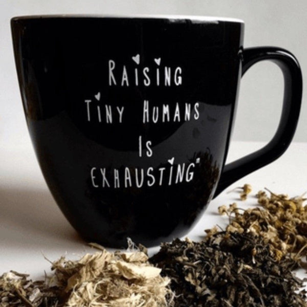 """Raising Tiny Humans is Exhausting"" Coffee Mug"