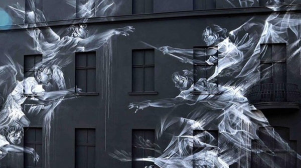 Ghostly Murals by artist Li-Hall