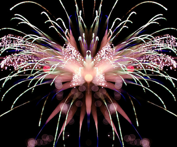Abstract Fireworks by artist, Tom Payer
