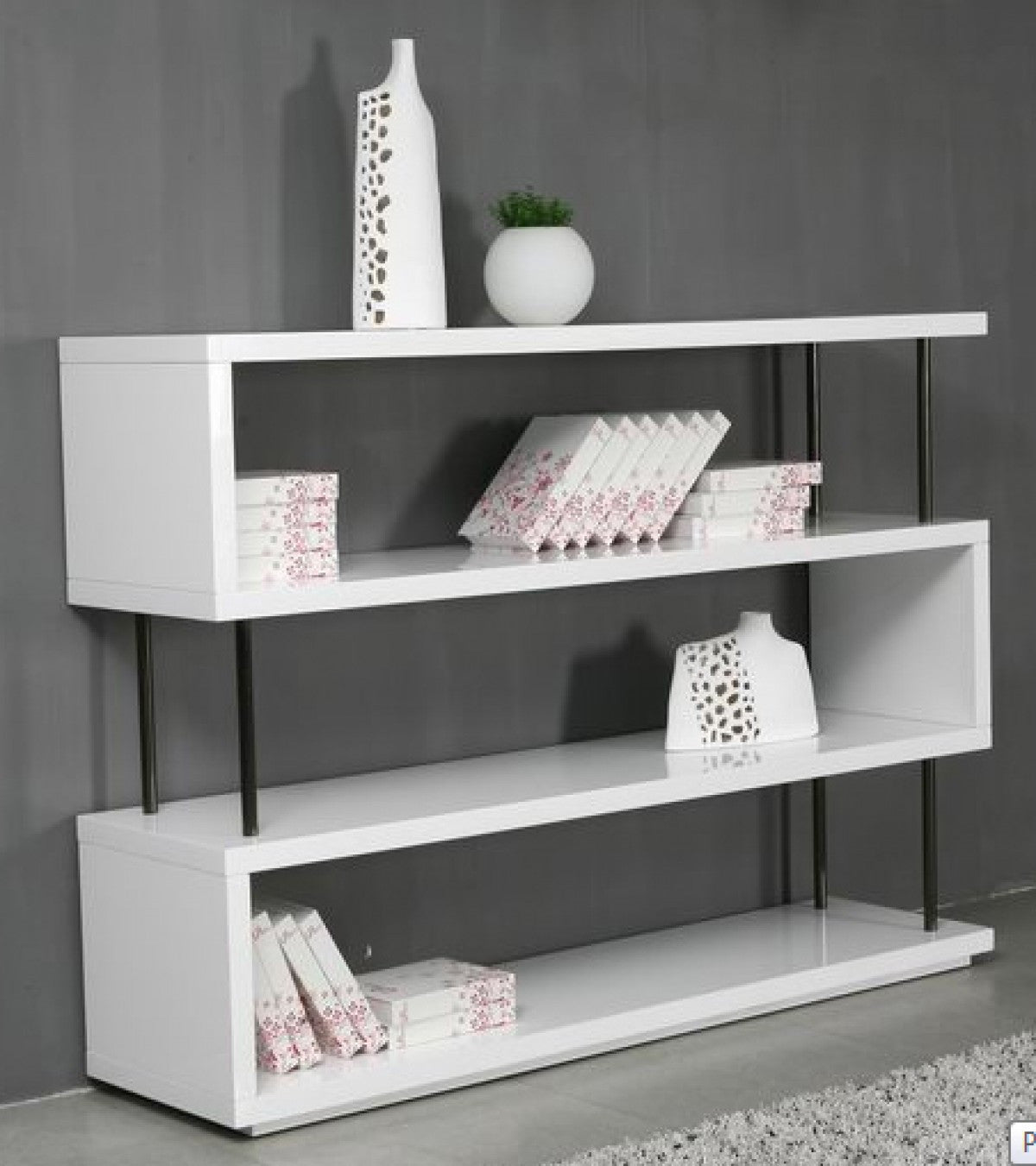 shelf modern shelves bookcases storages bookcase target white