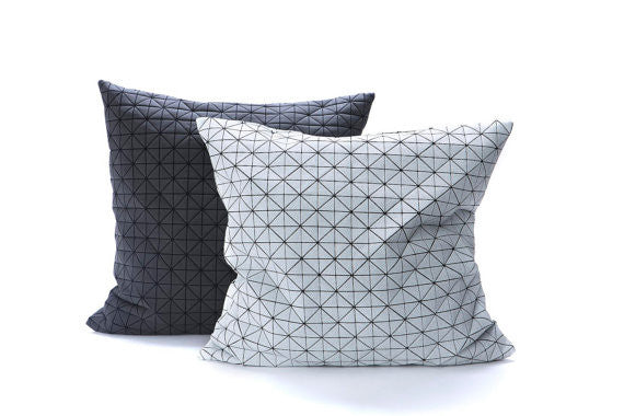 Fabric For Pillow Covers.Contemporary Geometric Fabric Pillow Covers Set Of Two Covers