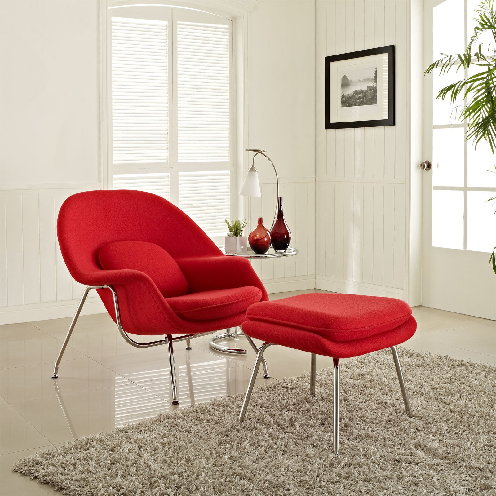 knoll ottoman chair saarinen eero by view top up interiors with object for womb