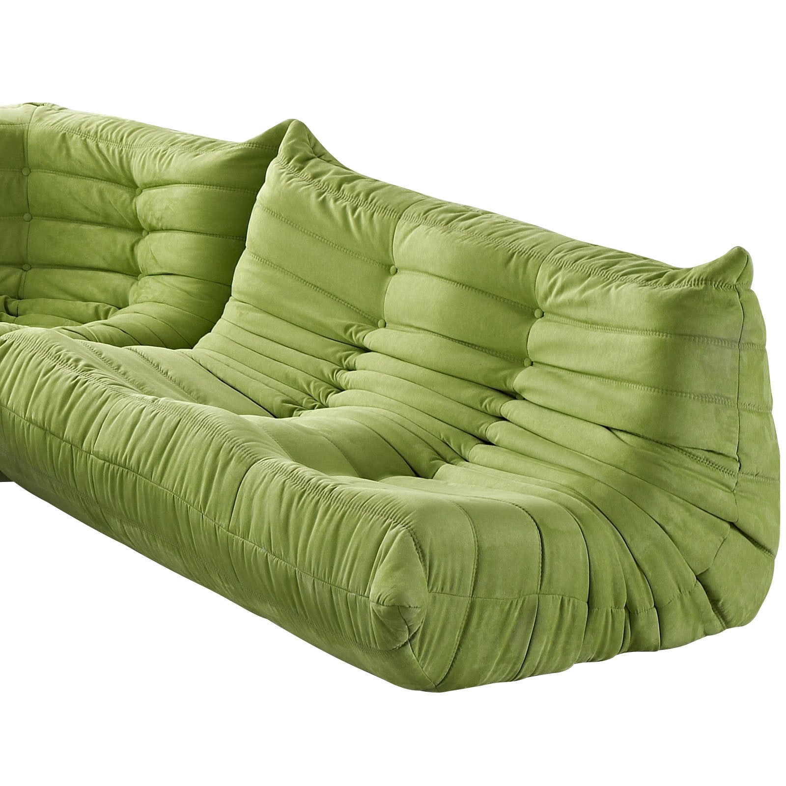 Modular Pillow Loveseat Green