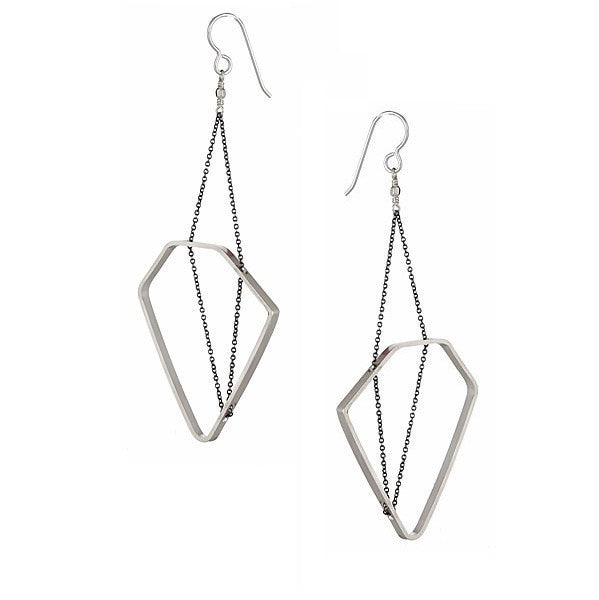 8c965f549 SAARINEN EARRINGS IN STERLING SILVER AND OXIDIZED SILVER CHAIN, Jewelry,  Vanessa Gade, Art