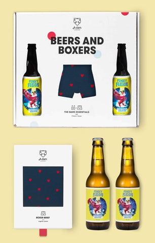 Box regalo boxer + birre - Caminaròli Ethical Fashion