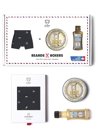 Box regalo boxer + kit cura barba - Caminròli Ethical Fashion
