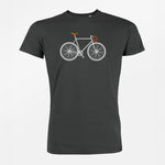 T-shit 100% Cotone Organico GOTS - Bike Two - Caminròli Ethical Fashion