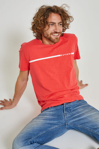 T-shirt 100% Cotone Organico GOTS - Kevin Red - Caminròli Ethical Fashion