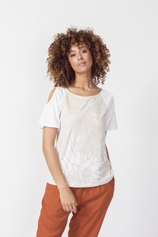 T-shirt fiori - Caminaròli Ethical Fashion