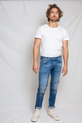 Jeans 100% Cotone Organico GOTS - Nick Pale Blue - Caminròli Ethical Fashion