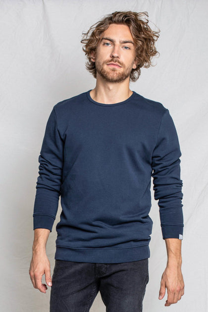 Felpa 100% Cotone Biologico GOTS - Navy - Caminaròli Ethical Fashion