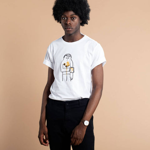Camiseta 100% Algodon Organico GOTS Coffee - Caminròli Ethical Fashion