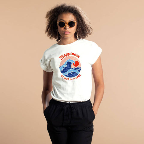 T-shirt 100% Cotone Biologico GOTS - Waves - Caminaròli Ethical Fashion