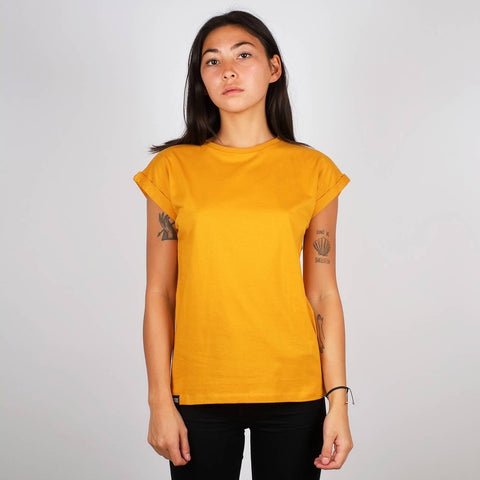 T-shirt 100% Cotone Biologico GOTS - Yellow - Caminròli Ethical Fashion