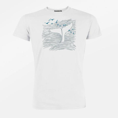 Organic Cotton T-shirt Whale - Caminròli Ethical Fashion