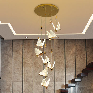 Modern Staircase LED Chandelier Home Decor For Kitchen Living Room Bar Lamp Ceiling Lights