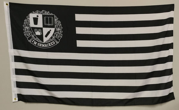 I'M SHMACKED B&W FLAG