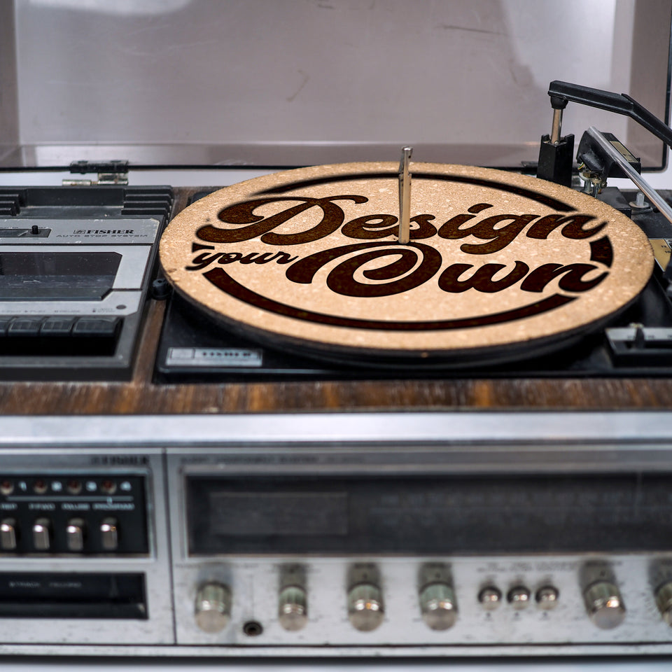 Premium Turntable Slipmat - Design your own custom cork mat - 6mm Thick - Personalized gift for DJ, Vinyl Record Collector, Music Lover, vintage