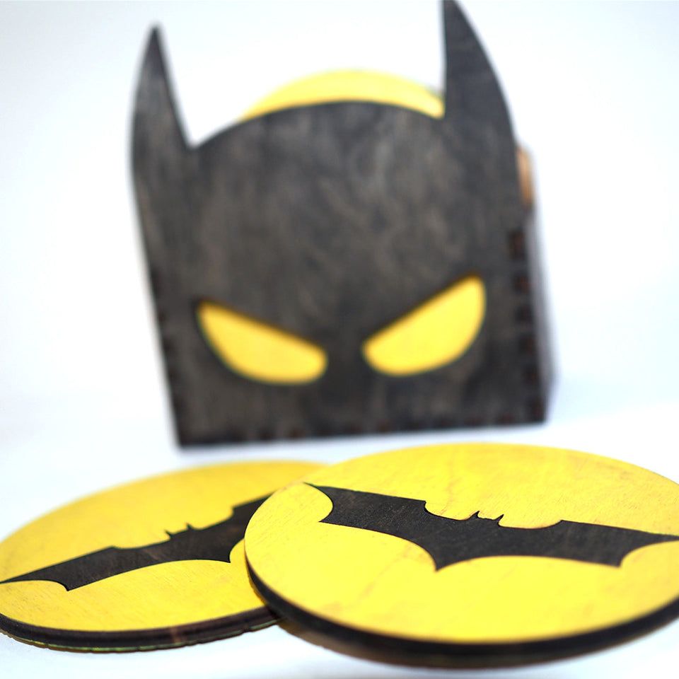 Batman Coasters - Mask Box / Logo Coasters
