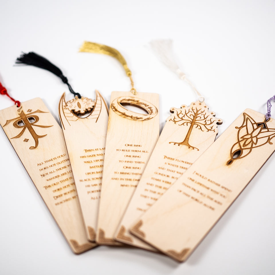 Lord of the Rings Bookmarks - Bookmark Set - Personalized gift