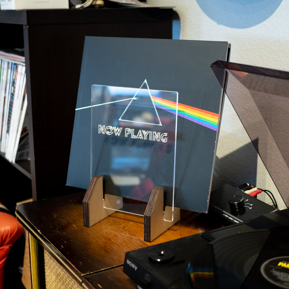 Now Playing Stand for Vinyl Records - LP Sleeve Display - Personalized gift for DJ, Vinyl Record Collector, Music Lover, Vintage