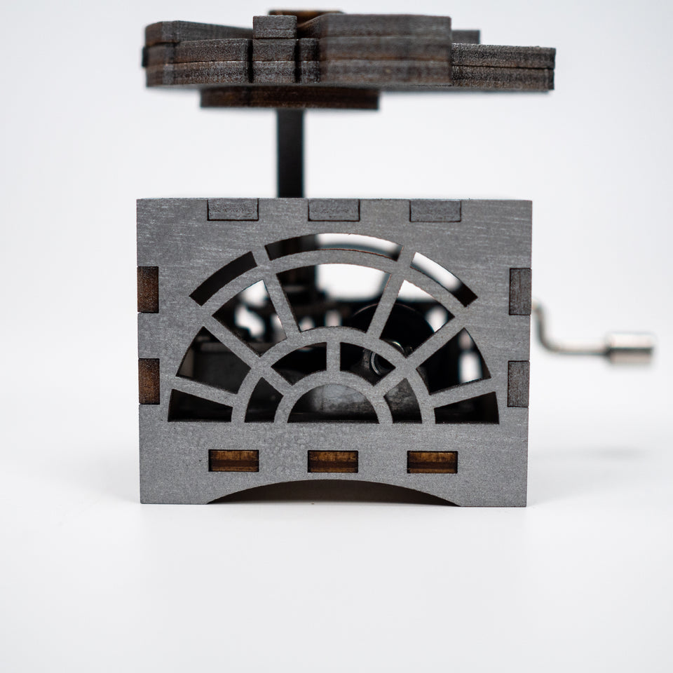 Star Wars Music Box - Millennium Falcon in Beskar Silver - Main Theme.
