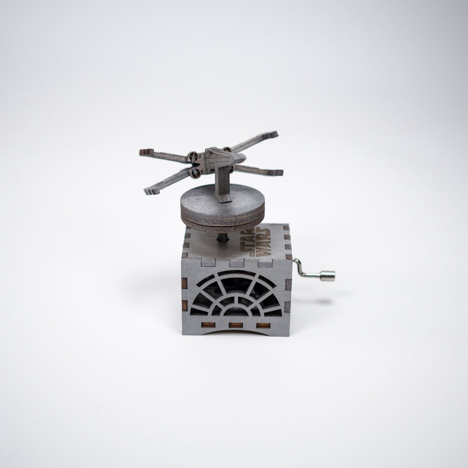 Star Wars Music Box - X Wing in Beskar Silver - Main Theme.