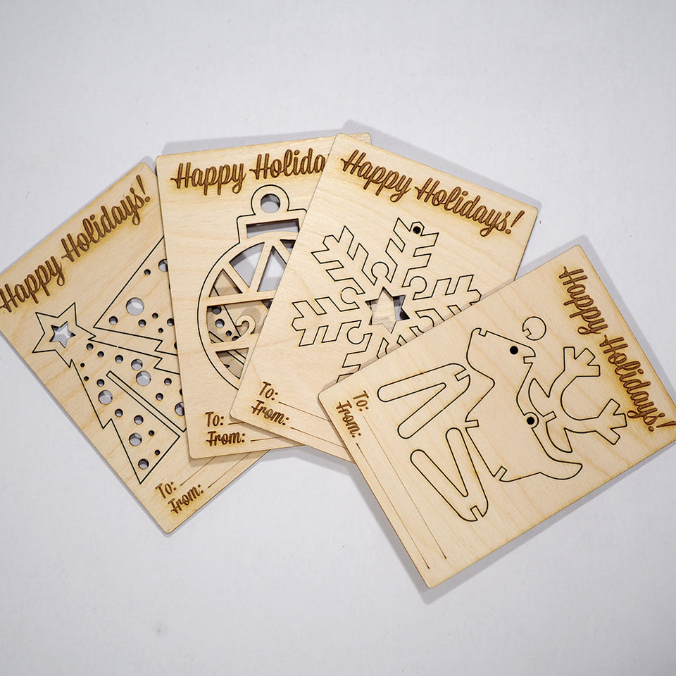 Christmas Card Set - Wooden Card Set