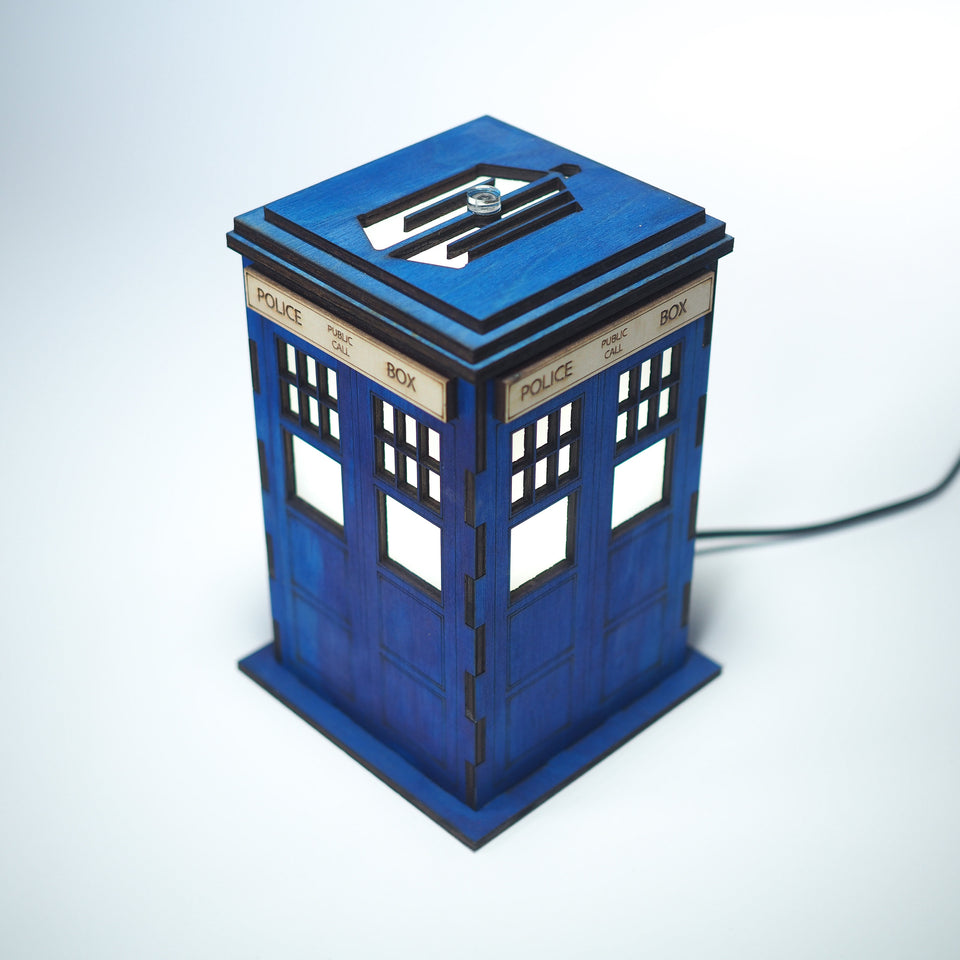 Dr. Who Lamp  - Blue Tardis - Desk night light