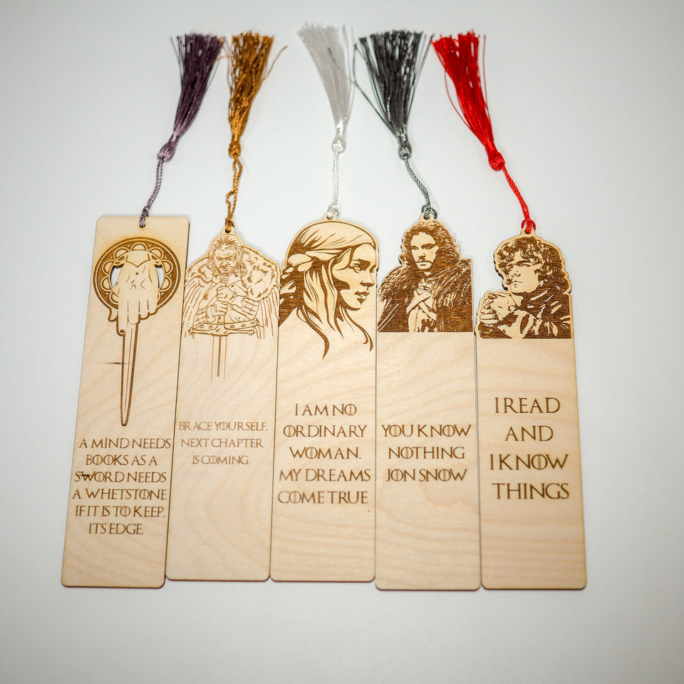 Game of Thrones Bookmarks - GOT Characters - Bookmark Set