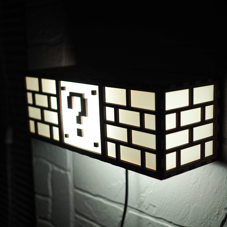 Super Mario Bros Lamp - Question Block - Wall mounted night light