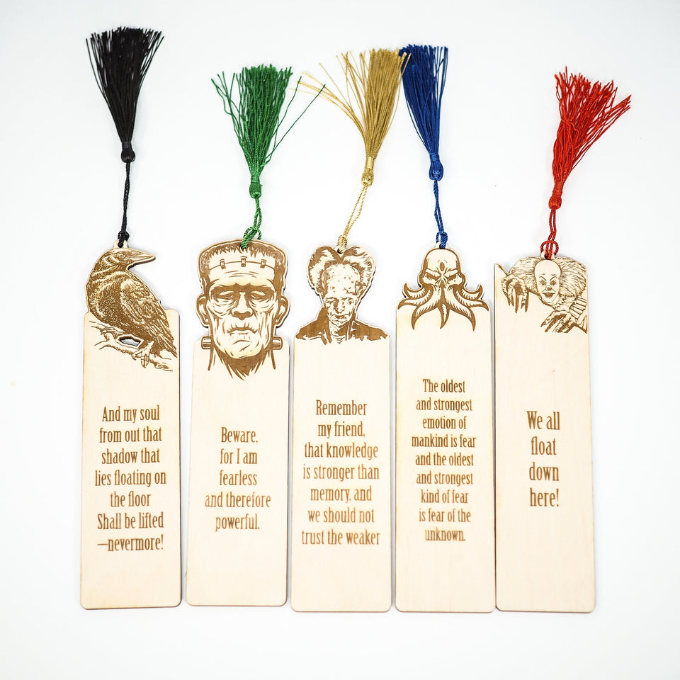 Horror Bookmarks - Masters of Horror - Bookmark Set