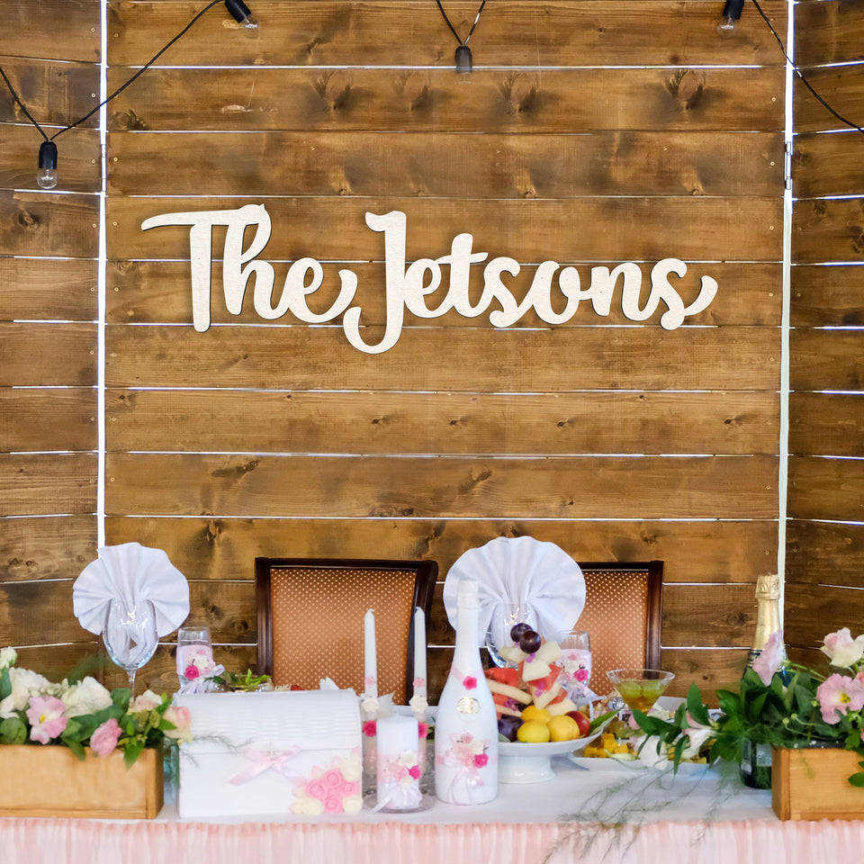 Last Name Wood Sign For Wedding or Event Backdrop