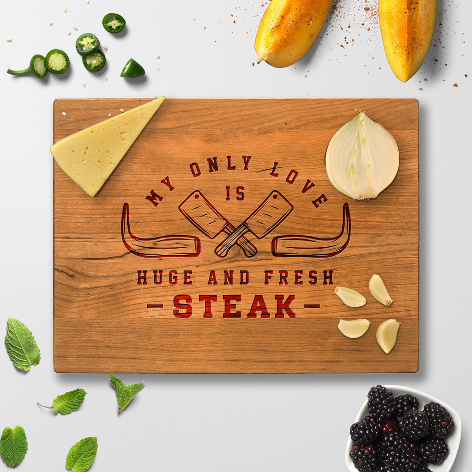 Personalized Cutting Board - My Only Love - Maple, Cherry or Walnut