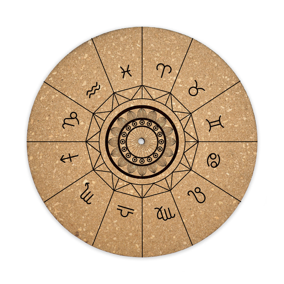 Premium Turntable Slipmat - Zodiac - 6mm Thick Cork Mat