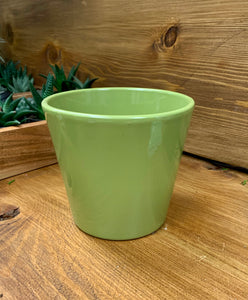 "Glazed Ceramic Pot (5""x5"") GREEN"