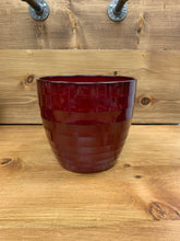 "Load image into Gallery viewer, Large Ceramic Pot (8.5""x8"") WINE RED"